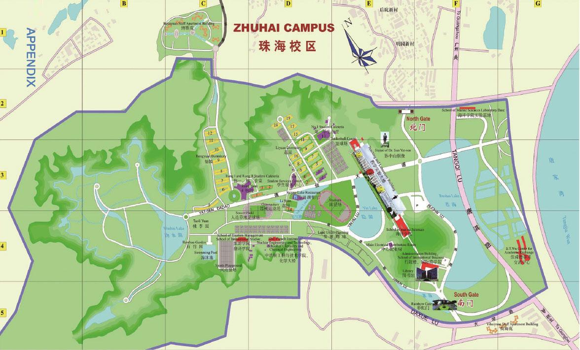 Sun Yat-sen University Zhuhai campus map