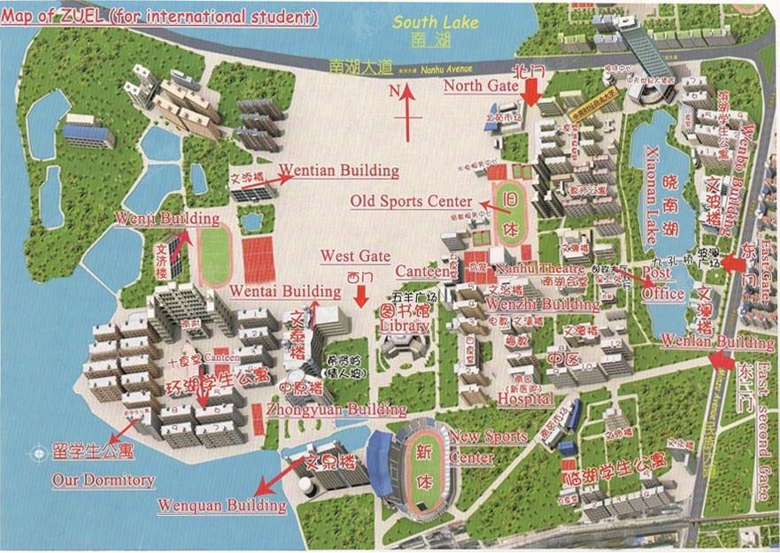 Zhongnan University of Economics and Law campus map