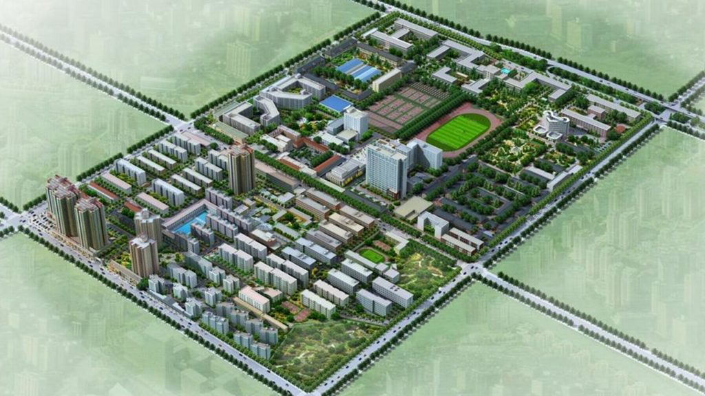 Xidian University north campus map
