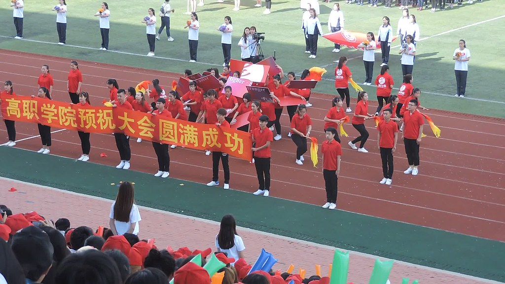 Sports fest at DUFE in China.